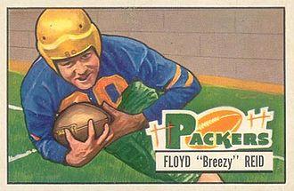 Floyd Reid - Reid on a 1951 Bowman football card