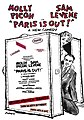 Flyer for Paris Is Out, 1970 Broadway comedy starring Molly Picon & Sam Levene produced by Donald J. Trump at the Brooks Atkinson Theatre.jpg