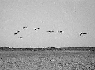 Fokker D.XXI - Formation of Fokker D.XXIs in flight