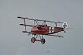 Fokker Dr.I Manfred Richthofen Pass three 09 Dawn Patrol NMUSAF 26Sept09 (14413307858).jpg