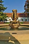 Fontána před lázeňským domem Morava, Slatinice, okres Olomouc (02).jpg