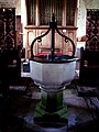 Font at St Cosmos and St Damian Church - geograph.org.uk - 327236.jpg