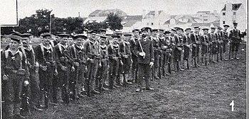 Força de marinha expedicionária nas Terras do Desembargador 15 de Maio de 1907