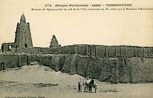 Djinguereber Mosque - Postcard published by Edmond Fortier showing the mosque in 1905-1906