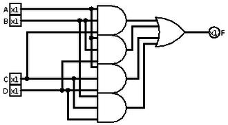 Majority function - Four bit majority circuit