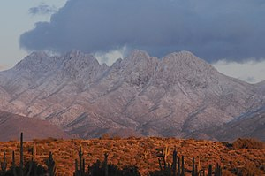 Four Peaks - View of Four Peaks with some snow