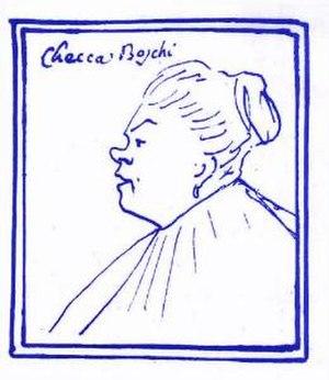 Francesca Vanini-Boschi - A caricature of Vanini-Boschi.