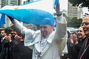 Francis with Argentina flag
