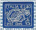 Francobollo in merletto Caprai su commissione dell'Istituto Poligrafico e Zecca dello Stato.jpg