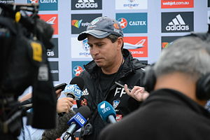 Frank Farina talks to the media (11847454503).jpg