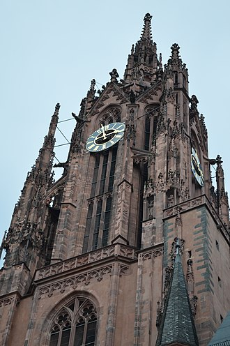 Frankfurt Cathedral - Image: Frankfurt Cathedral Tower Detail