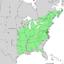 Fraxinus americana range map 2.png