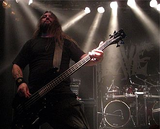 Grave (band) - Fredrik Isaksson, former bass player. Klubben 2008