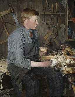 Fredrik Kolstø - The young Carpenter - NG.M.01587 - National Museum of Art, Architecture and Design