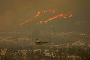 Freeway Complex Fire - Fire along the SR 91 freeway near Yorba Linda