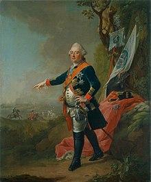 Friedrich II., Landgraf von Hessen-Cassel in einem Gemälde von Johann Heinrich Tischbein d.Ä. 1773 (Quelle: Wikimedia)