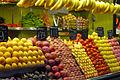 Fruit stall at Barcelona market (2929344665).jpg