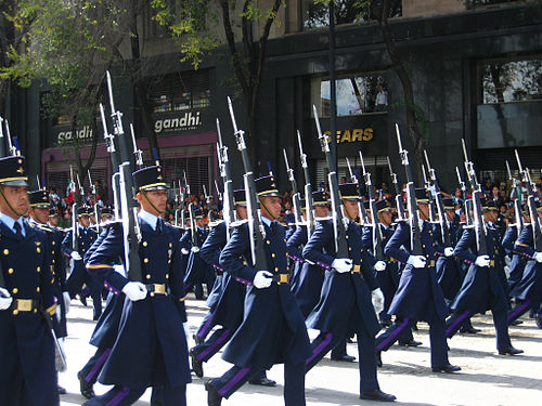 Mexican Air Force cadets march during the Mexican Independence day military  parade in Mexico City on 7600686529e