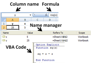 Use of user-defined function in Microsoft Exce...
