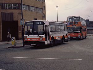 Dennis Domino - GM Buses Northern Counties bodied Dennis Domino in Manchester