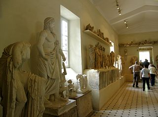 Archaeological museum in Peloponnese, Greece.