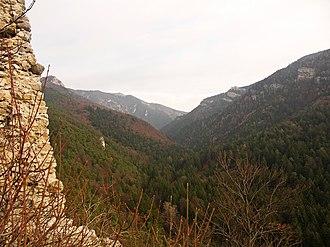 Veľká Fatra - Image: Gaderská dolina, Greater Fatra (SVK) from Blatnica castle ruin