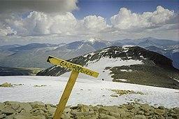 Vy fra Galdhøpiggen, Skandernas højeste bjerg.