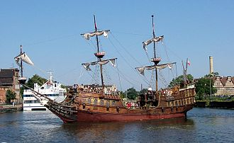 Aftercastle - Galleon showing both a forecastle (left) and aftercastle (right)
