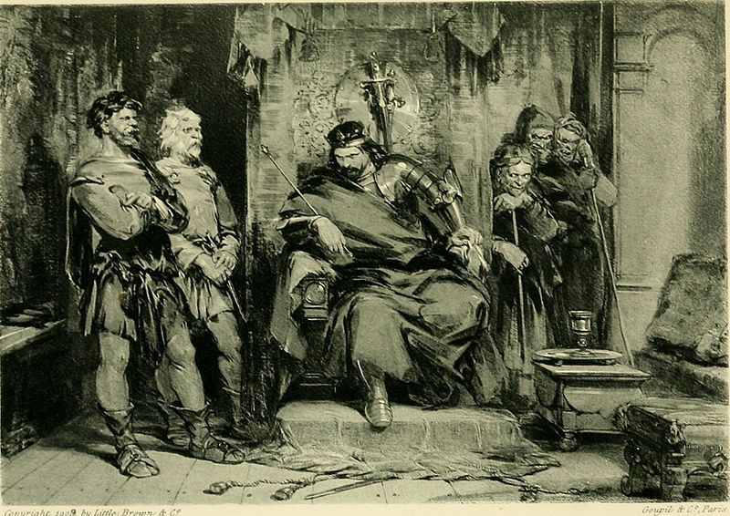 Photo from Wikimedia Commons from George Cattermole and the  Gallery of Shakespeare illustrations, from celebrated works of art (1909).