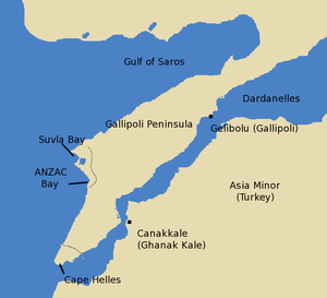 Gulf of Saros - Image: Gallipolimap 2