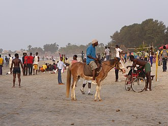 The Gambia - Kololi beach on the shore of the Atlantic Ocean
