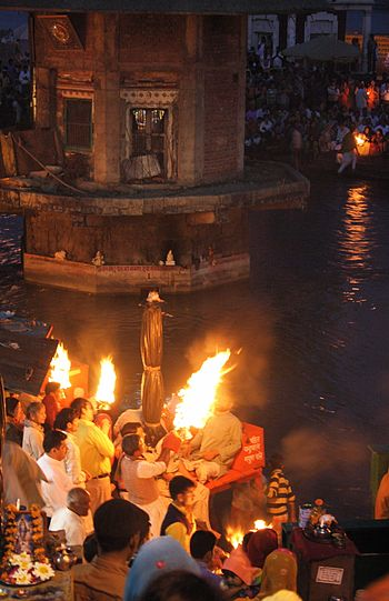 The daily Ganga Aarti ceremony