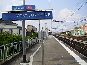 Vitry-sur-Seine (Paris RER) - Image: Gare de Vitry sur Seine 03