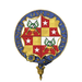Garter encircled coat of arms of Lady Mary Fagan, LG, DCVO, JP.png