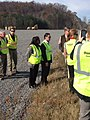Gary Palmer and Terri Sewell tour Northern Beltline construction site in Alabama - 2015 01.jpg