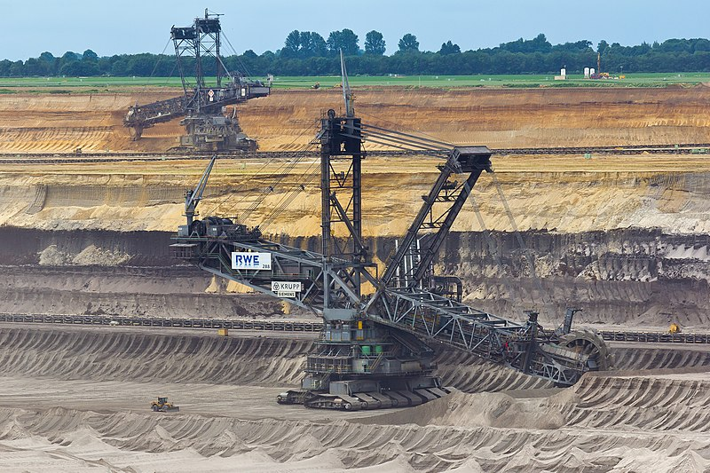 A huge coal mining machine used by RWE in Germany