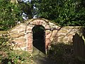 Gate in churchyard wall, Backford.jpg