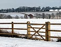 Gate into wintry fields - geograph.org.uk - 1651274.jpg