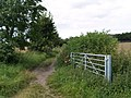 Gate to track at junction with footpath. - geograph.org.uk - 523232.jpg