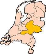 Map: Province of Guelders in the Netherlands