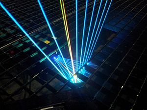 Laser harp - Genesis laser harp beam output from the stand