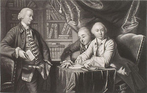 George Augustus Selwyn (politician) - George Augustus Selwyn; Richard Edgcumbe, 2nd Baron Edgcumbe; George James Williams, by Henry Graves.