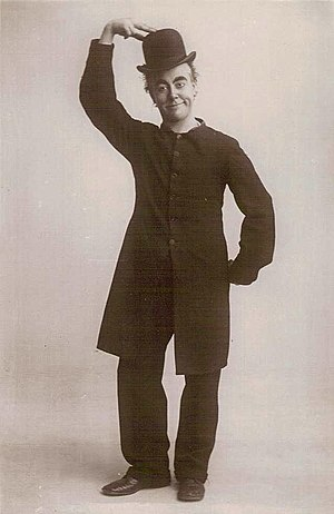 """George Robey - """"The Prime Minister of Mirth"""", whose costume Robey had based on an earlier design"""