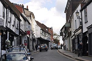 St Albans - Tudor buildings on George Street
