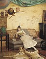 Georges Croegaert - A quiet read in a Chinoiserie interior.jpg