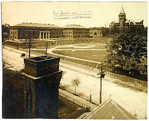 Lyman Hall (academic) - Georgia Tech around 1900, with Tech Tower in the background