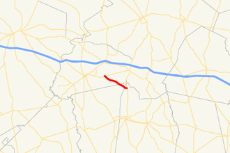 Georgia State Route 298 - Image: Georgia state route 298 map