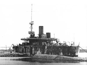 Ekaterina II-class battleship - Georgii Pobedonosets interned in Bizerte late 1920s