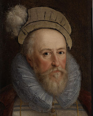 Marcus Gheeraerts the Younger - Unfinished portrait sketch of Sir Henry Lee, likely to have been from life; oil on canvas, c. 1600