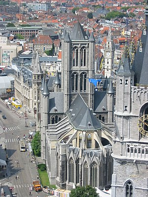 Saint Nicholas' Church, Ghent - Image: Ghent, Saint nicolas church, view from cathedral